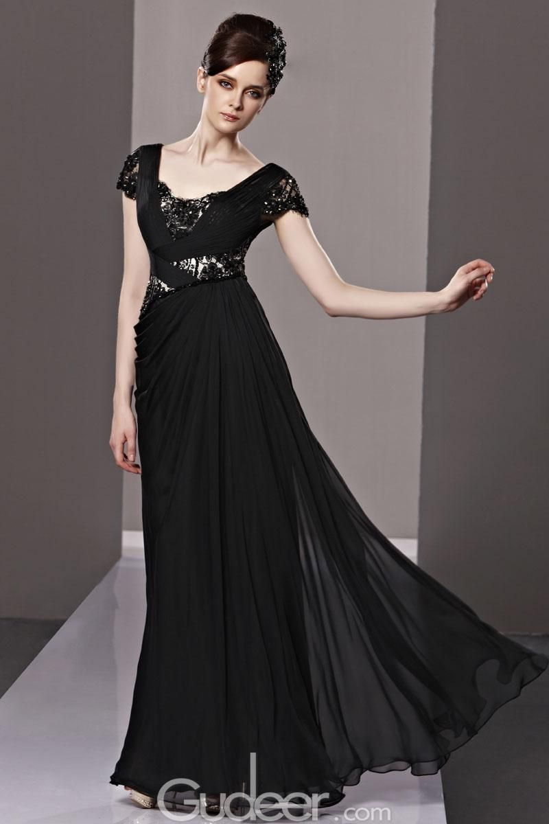 Black Evening Dresses With Sleeves | LOVE IT | Pinterest ...