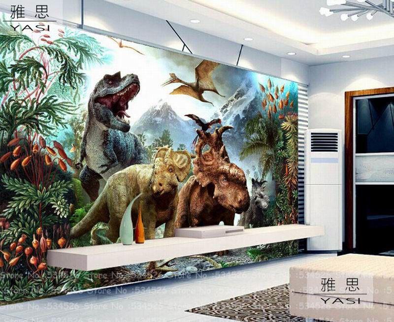 Pas Cher 3d Dinosaur Kid Papier Peint Fresque Papel De Parede