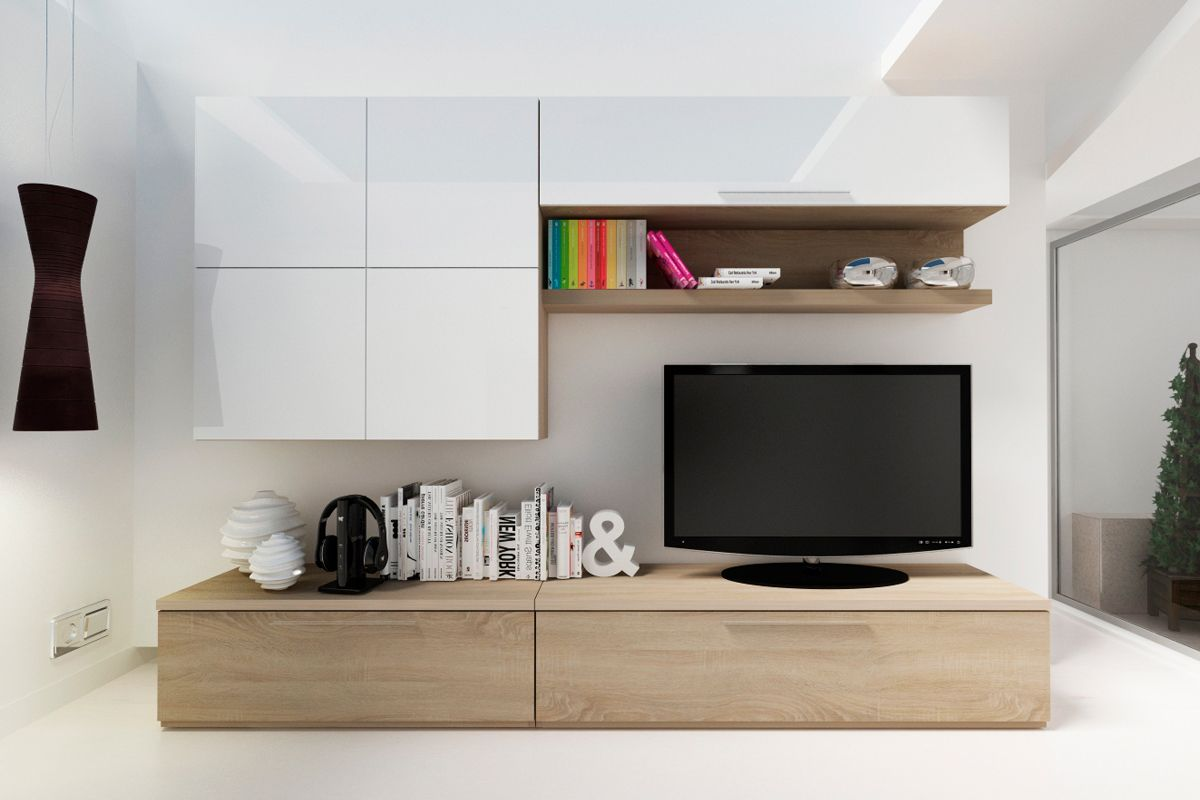 Meuble Tv Moderne 30 Designs Uniques Et Conseils Pratiques  # Compositions Murales Sejour