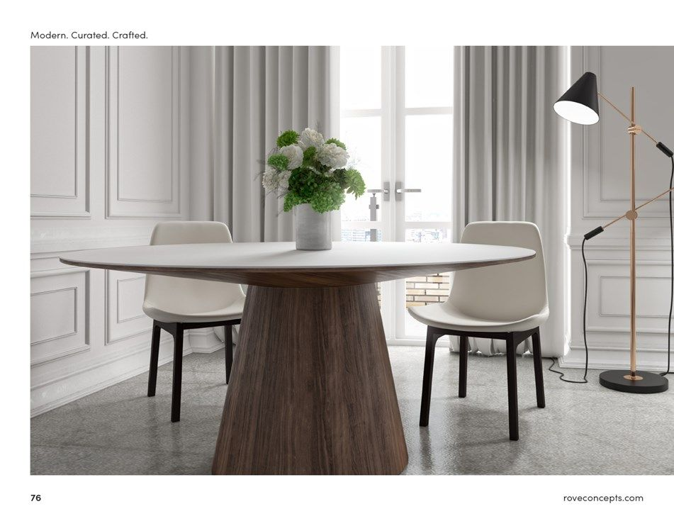 2019 Rove Concepts Lookbook Page 76 Pedestal Dining Table