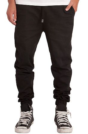 Elwood pants the stretch twill jogger in black karmaloop also this is my style jeans rh pinterest