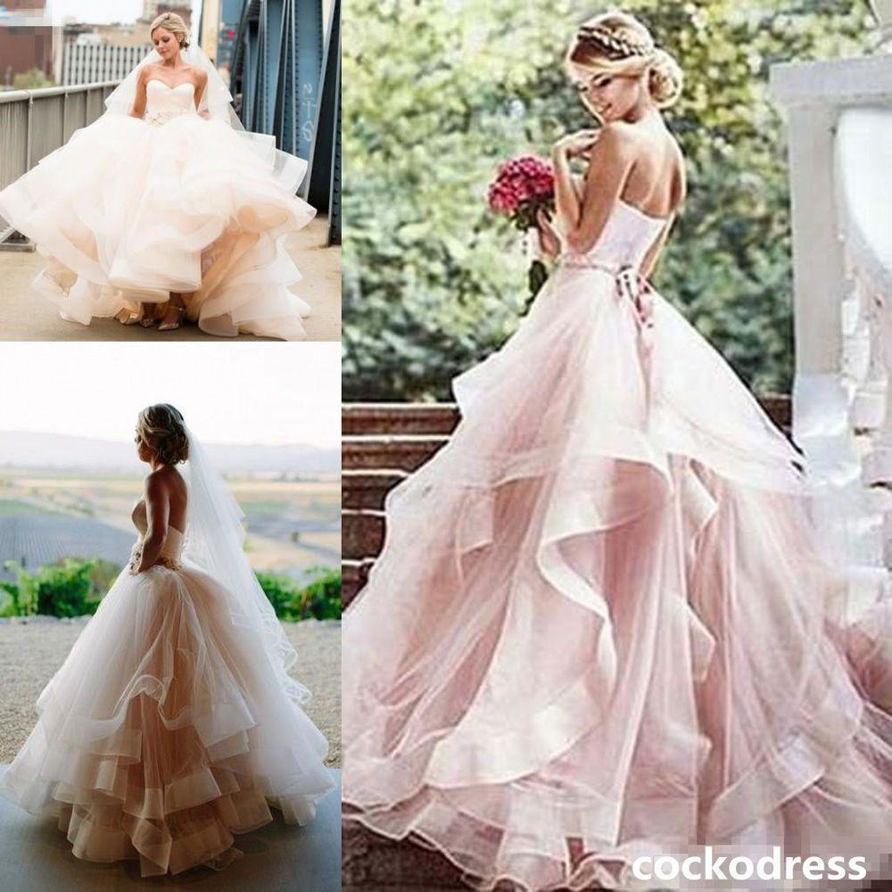 Blush Vintage Sweetheart Layered Wedding Dress Organza Ball Bridal Gown Custom Pink Wedding Dresses Beautiful Wedding Dresses Wedding Dresses [ 1000 x 1000 Pixel ]