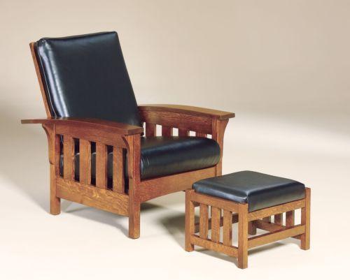 Admirable Amish Bow Morris Recliner Chair Mission Arts Crafts Slat Machost Co Dining Chair Design Ideas Machostcouk