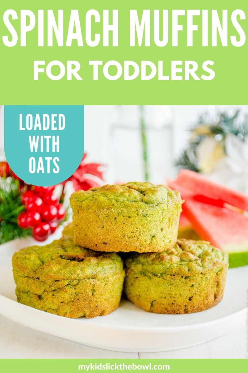 Spinach Muffins For Toddlers - Low Sugar Snack