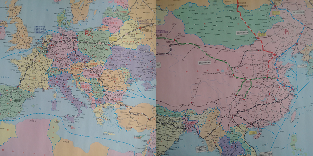 Why the china europe silk road rail network is growing fast china railways map of trains between china and europe gumiabroncs Gallery