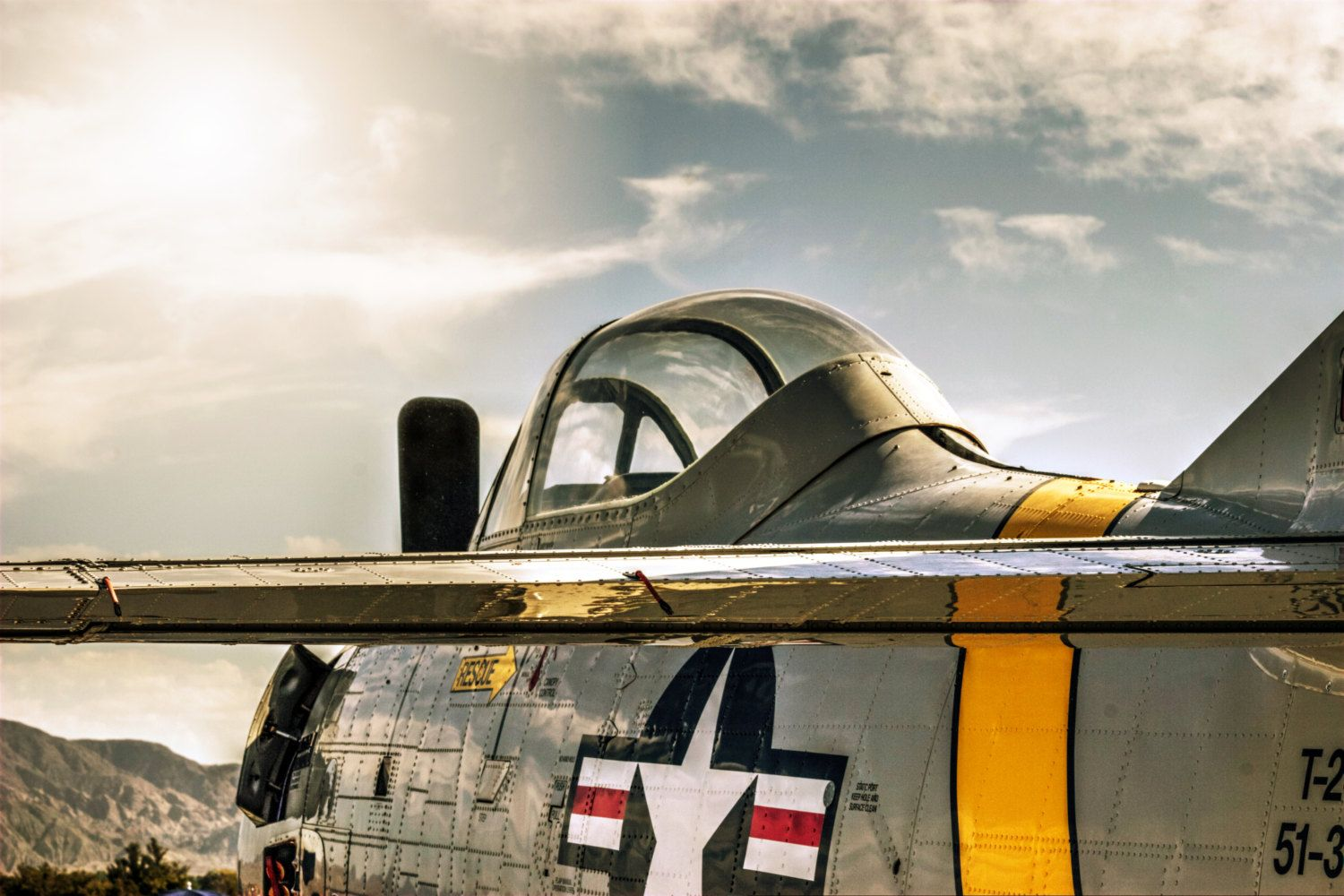 Warbird Facing The Sun