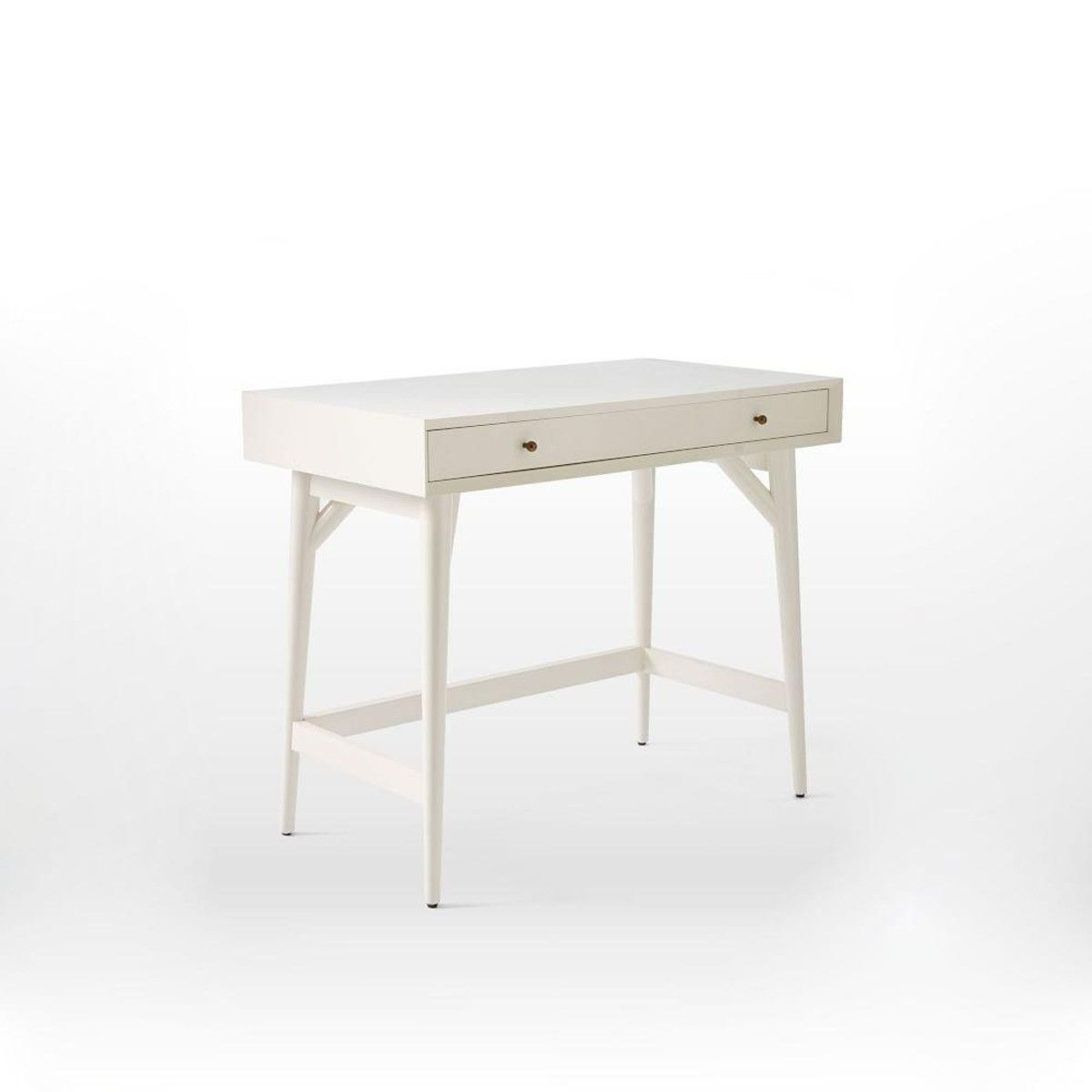 Mid Century Mini Desk White In 2020 Mini Desk White Desks Mid Century Desk