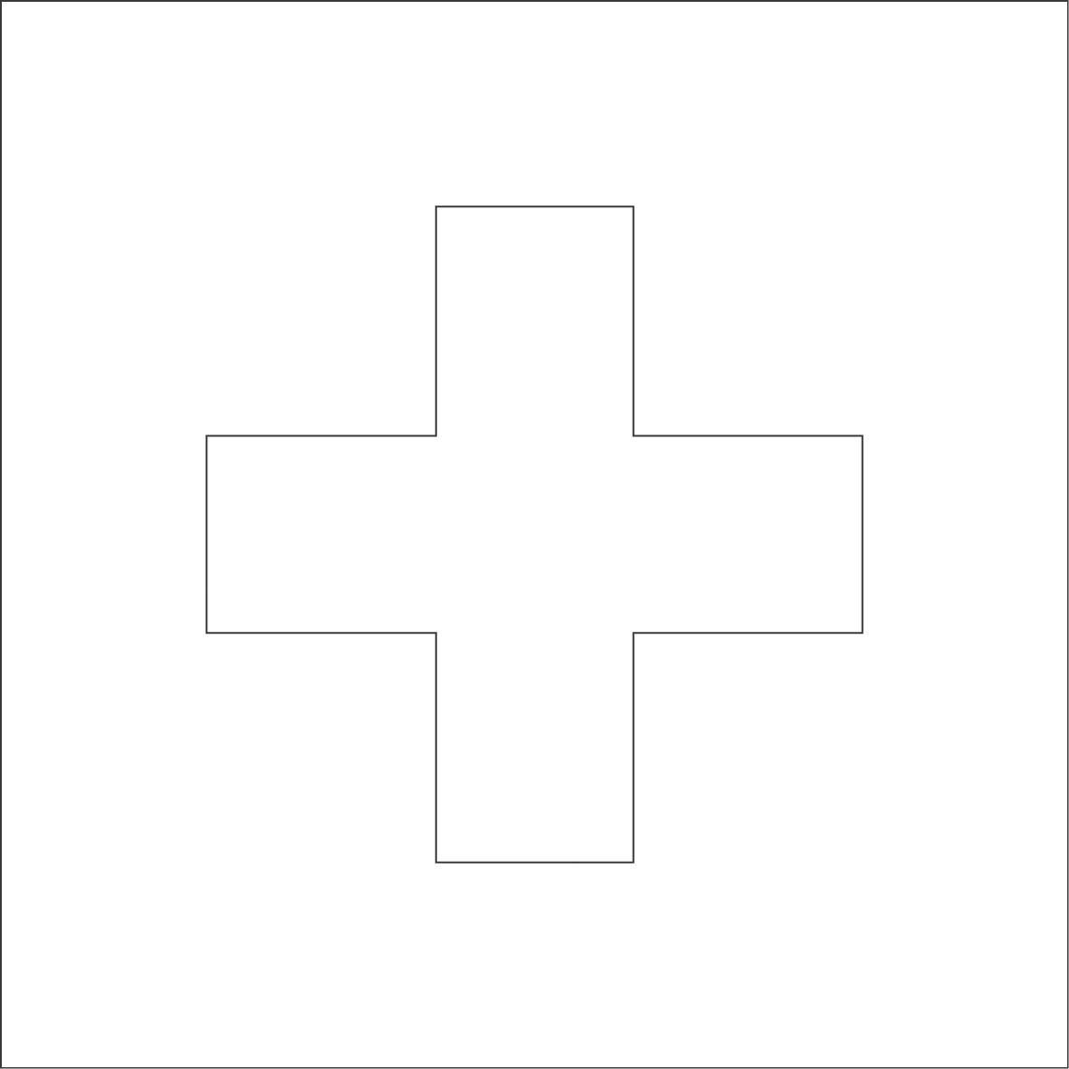 Swiss Flag Coloring Sheets 1181x1181 Pixels