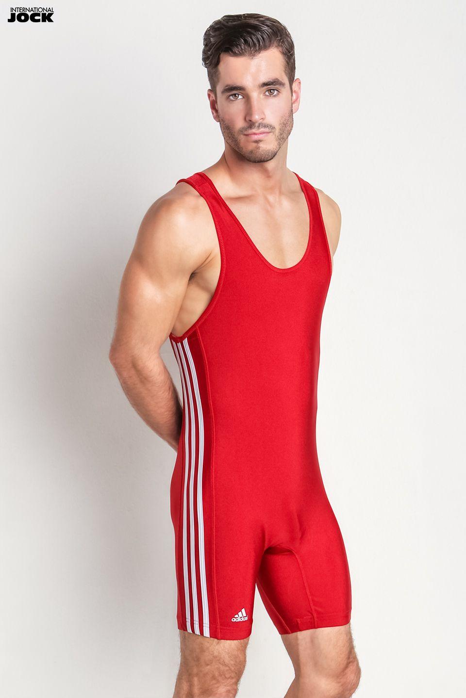 635929fa2262e Andrew Biernat wearing Adidas 3 Stripe wrestling singlet #andrew #biernat # adidas #sportswear #athletics #3 #stripes #wrestling #singlet #red #male  #model ...