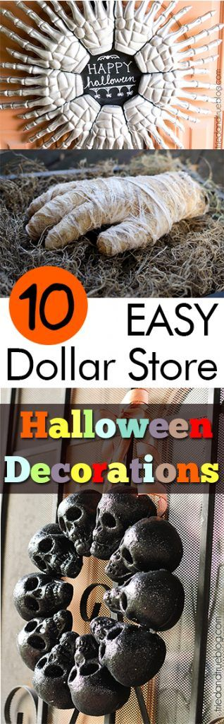 10 EASY Dollar Store Halloween Decorations Dollar store halloween