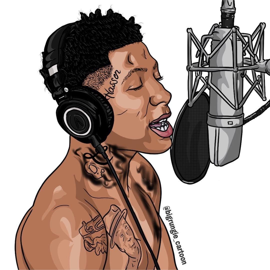 Requested By Carltonjr1125 Nba Youngboy Yall Tag Him Cartoon Made By Bigrungie Cartoon Nbayoungboy 38baby Tagem Rapper Art Cartoon Artist Simpsons Art