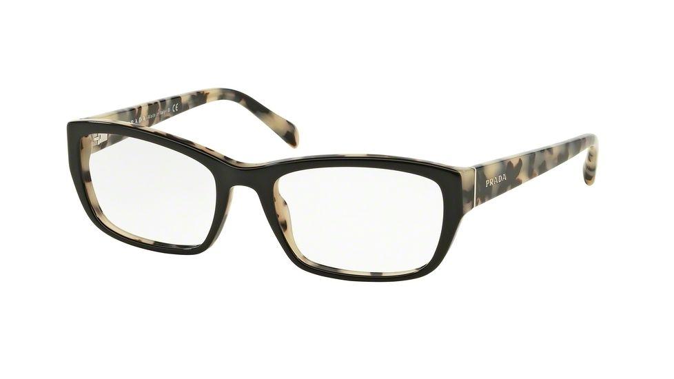 b68ef52ada8e Prada PR18OV Eyeglass Frames ROK1O1-52 - Top Black white Havana Frame