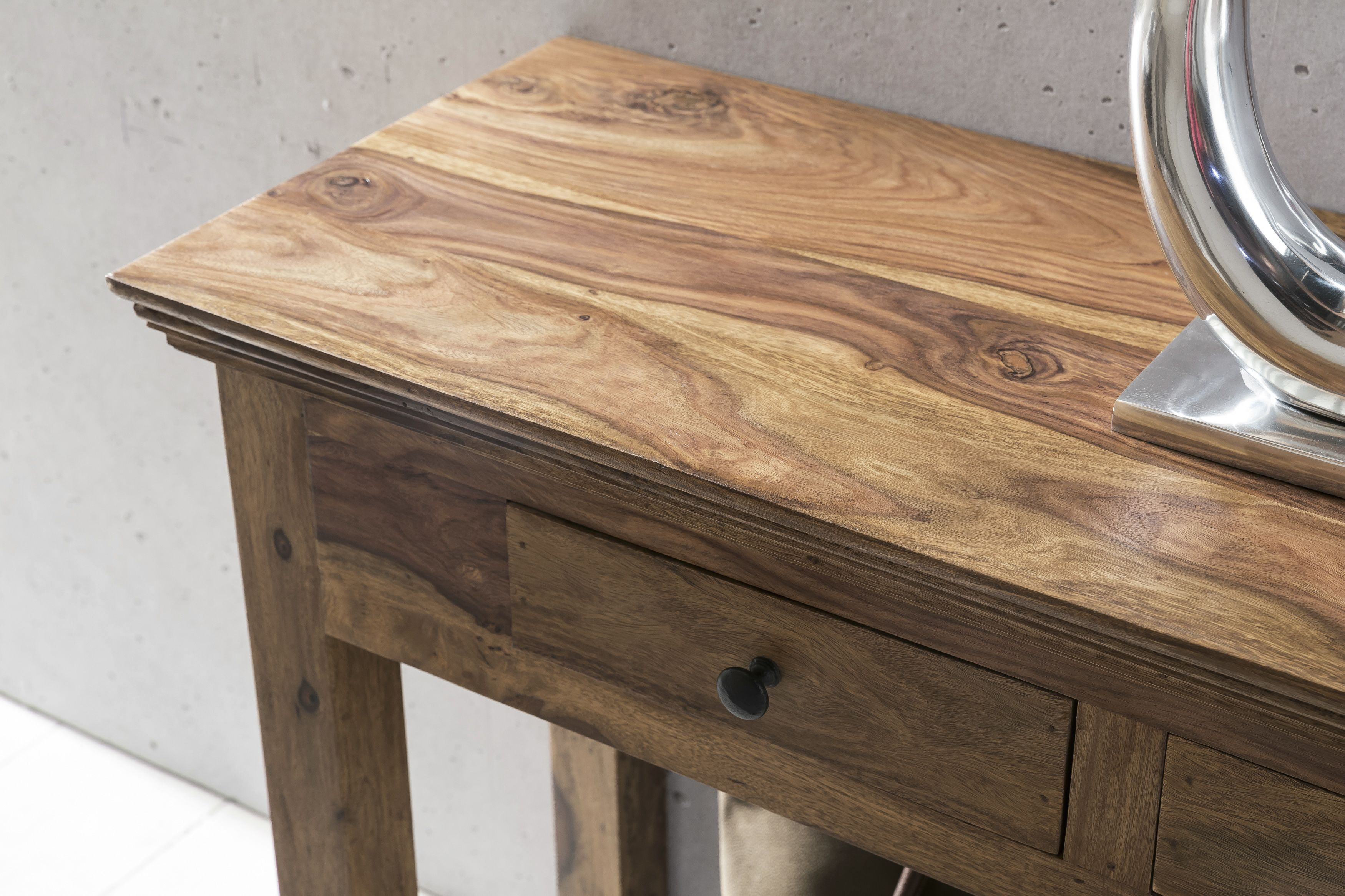 Wohnling Konsolentisch Mumbai 110 Cm Wl1 214 Aus Sheesham Massivholz Flur Wohnzimmer Arbeitszimmer Holz Dunkel Schminkt Konsolentisch Konsolen Tisch Holz