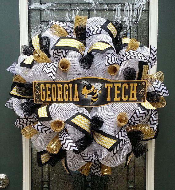 Tech WreathYellow JacketsGA Tech by