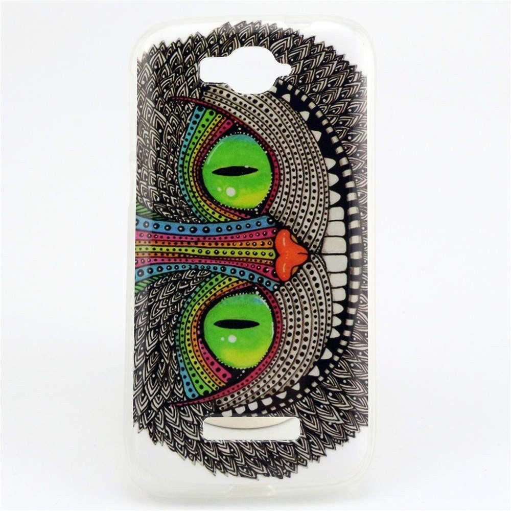 For Alcatel One Touch Pop C7 Case TPU Owl Flower Design Phone Skin Cover For Alcatel One Touch Pop C7 OT 7040 7040D OT7040 7041D