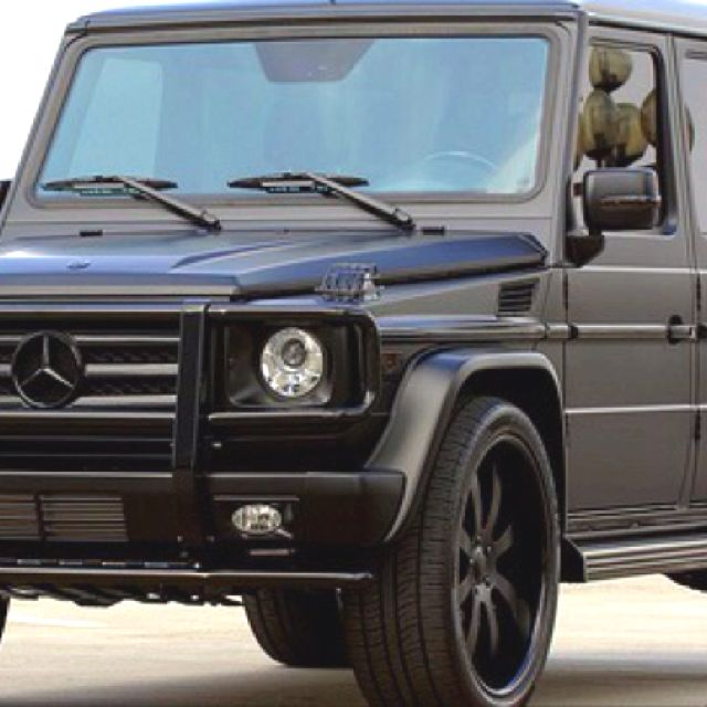 Matte Black Mercedes G-Wagon. MY car | Mercedes g wagon ...