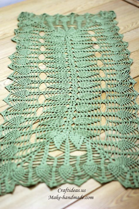 Crochet Beauty Rectangle Tablecloths Filet Hekel Crochet
