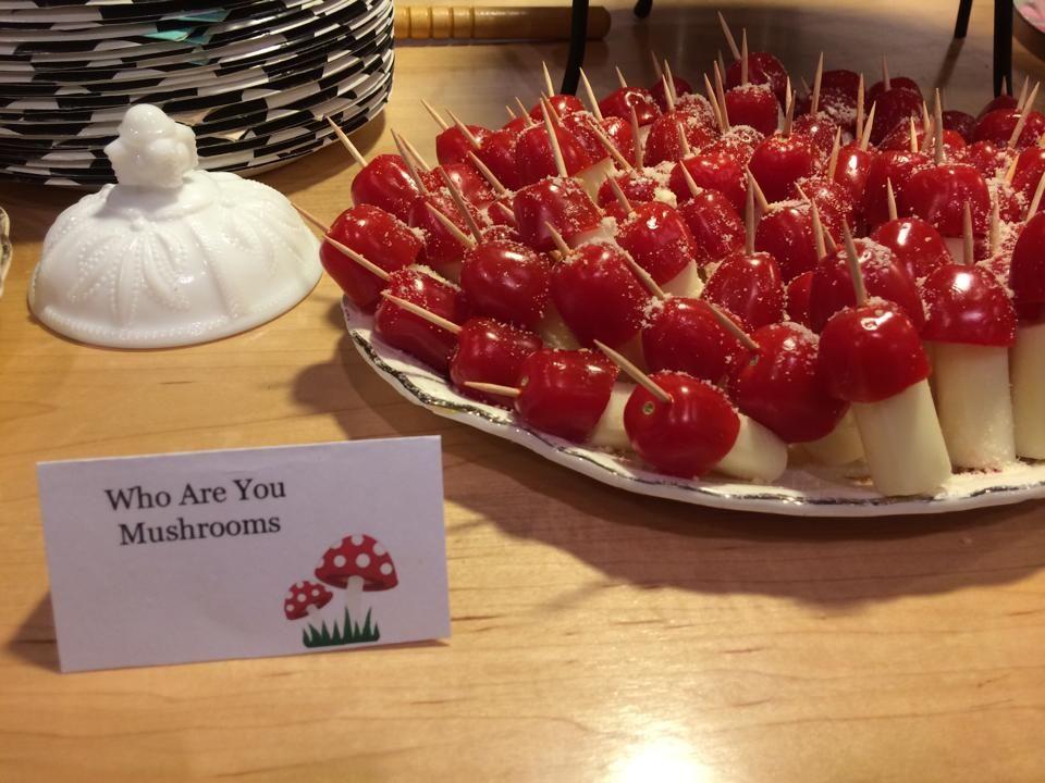 Alice In Wonderland Tea Party Food 1st Birthday Mushrooms