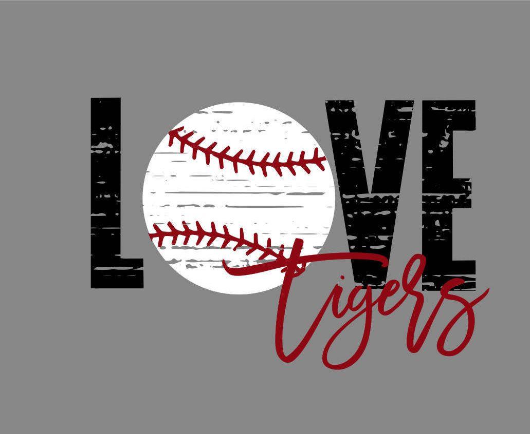 Download Love Tigers DIstressed Baseball SVG/PNG   Baseball svg ...