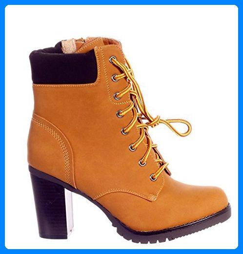 Damen Boots Stiefelette Ankle Elegantstyle Zipper Schnürer l3FKJcuT1