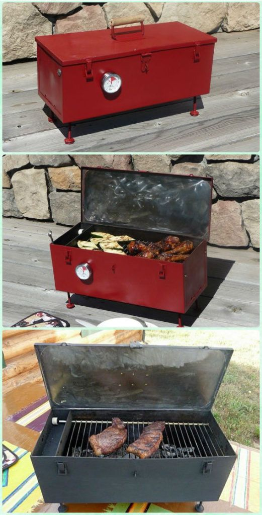 DIY Portable Toolbox Grill Instruction   DIY Backyard Grill Projects