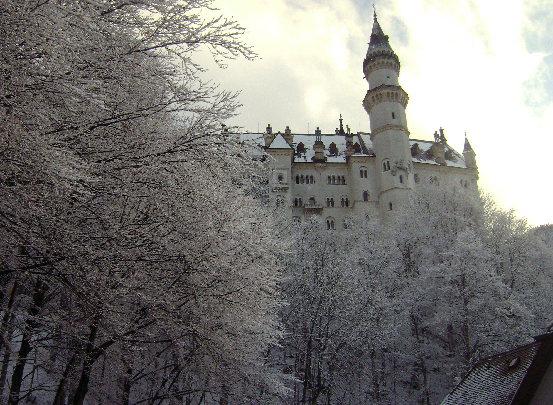 """Castillo de Neuschwanstein construido por el Rey Ludwig II sobre la peña de Hohenschwangau. Baviera. Alemania. Siglo XIX: La primera piedra se coloca el 5 de septiembre de 1864. Promedio de visitantes anual: 1,3 millones de personas. Aforo máximo alcanzado por día: 8.000 personas. Fue elegido por Disney en 1959 para ambientar """"La Bella Durmiente"""". Castillo_de_Neuschwanstein_(Alemania).jpg (2990×2190)"""