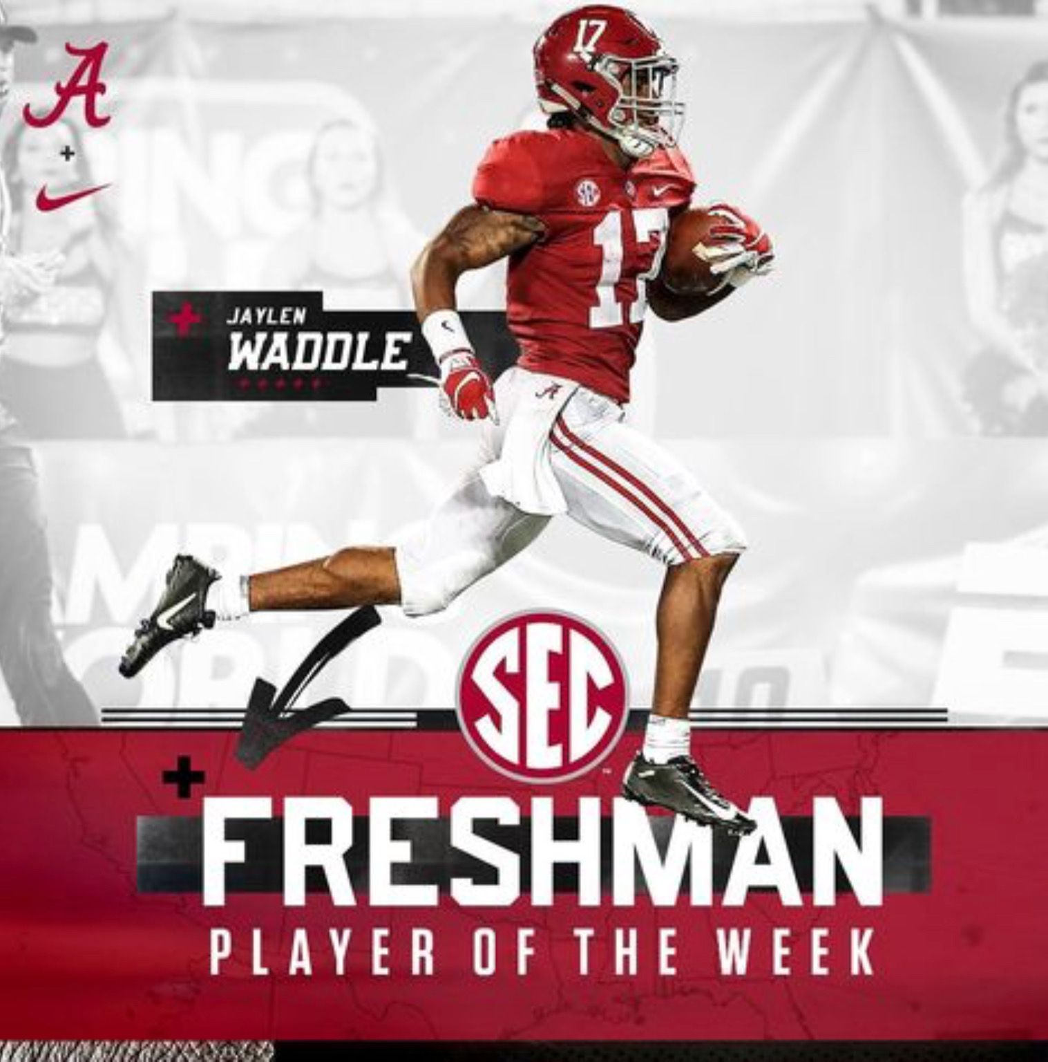 Jaylen Waddle Alabama Rolltide Bama Builtbybama Rtr Crimsontide Rammerjamm Alabama Crimson Tide Football Alabama Football Roll Tide Alabama Crimson Tide