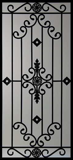 Gentil Wrought Iron Door Inserts   Dalemont 22x48 #casasrusticas