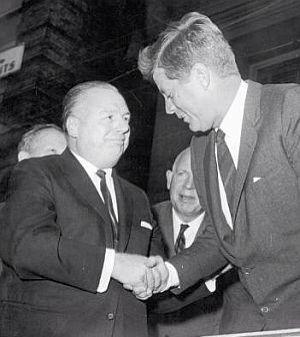 Jfk et le Gouverneur Démocrate de l'Ohio Mike DiSalle.