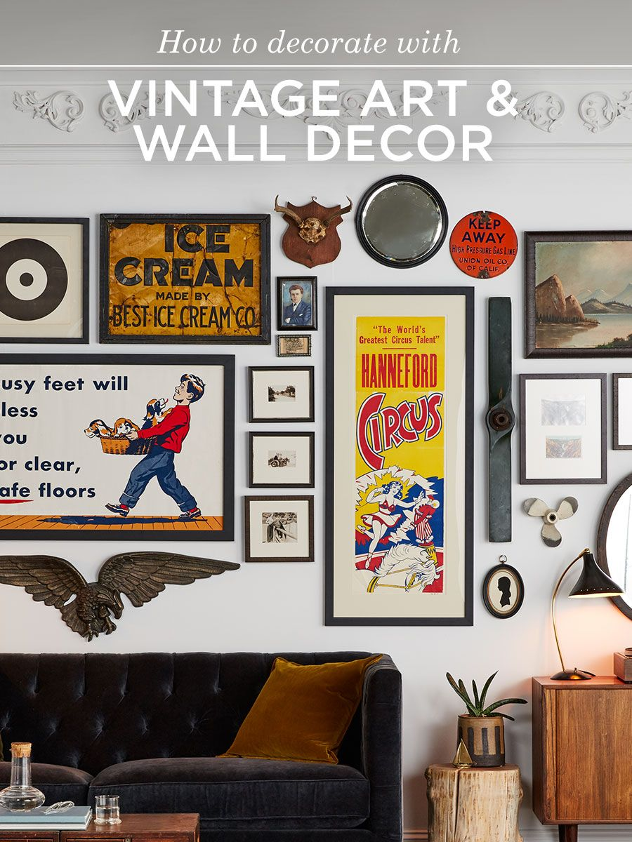 Antique Art and Wall Decor  Eclectic living room, Decor, Home decor