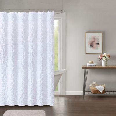 Easton 72 Inch X 84 Inch Shower Curtain In White White Shower