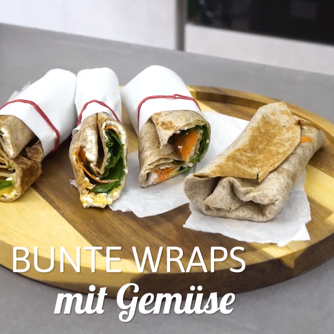Bunte Wraps Mit Gemuse Video Rezept Video Wraps Rezept Gesundes Essen Rezepte Rezepte