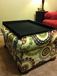 Diy Storage Ottoman With Table Tray I Really Want To Do This With