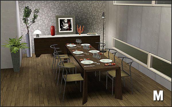 Sims 3 Dining Diningroom Furniture