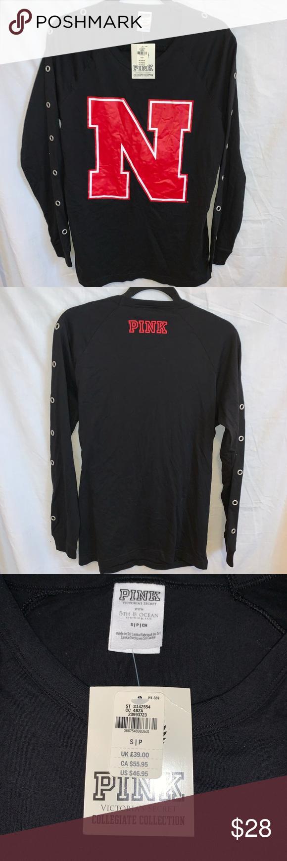 Pink Nebraska Sweatshirt Nwt Sweatshirts Sweatshirts Hoodie Sweatshirt Tops [ 1740 x 580 Pixel ]