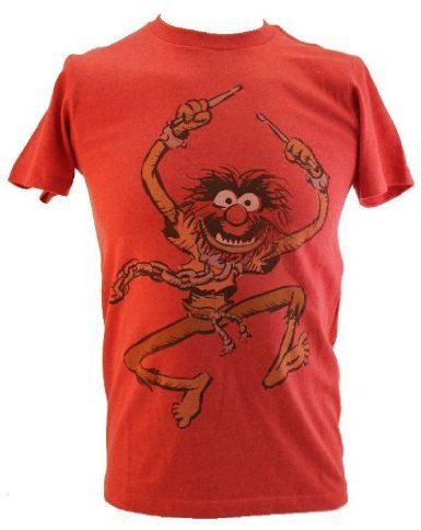45ceea963 The Muppets (Jim Henson's) Mens T-Shirt - Animal Rocking the Drums on Red:  Amazon.com: Clothing