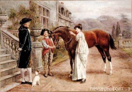 A favourite mare - George Goodwin Kilburne (1839-1924)