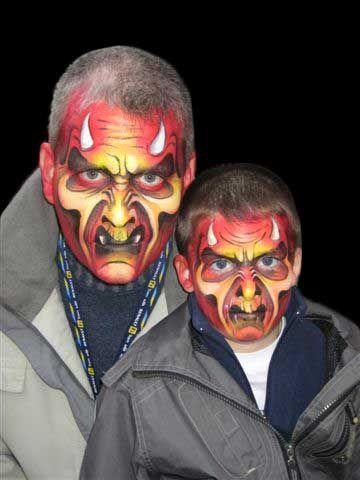maquillage face painting diable halloween enfants. Black Bedroom Furniture Sets. Home Design Ideas