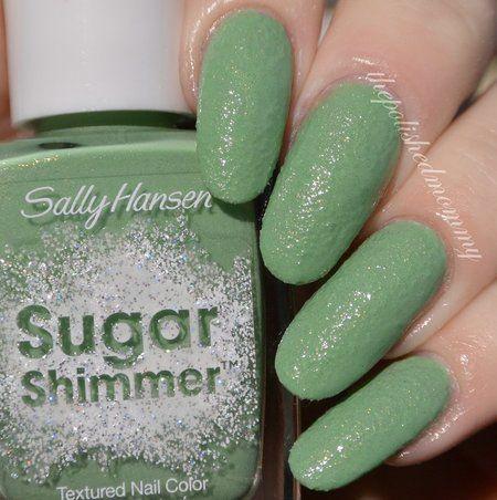 Sally Hansen Mint Tint. #nails #usgarshimmer #Sallyhansen #greennails #shimmer #pretty - See more looks at bellashoot.com