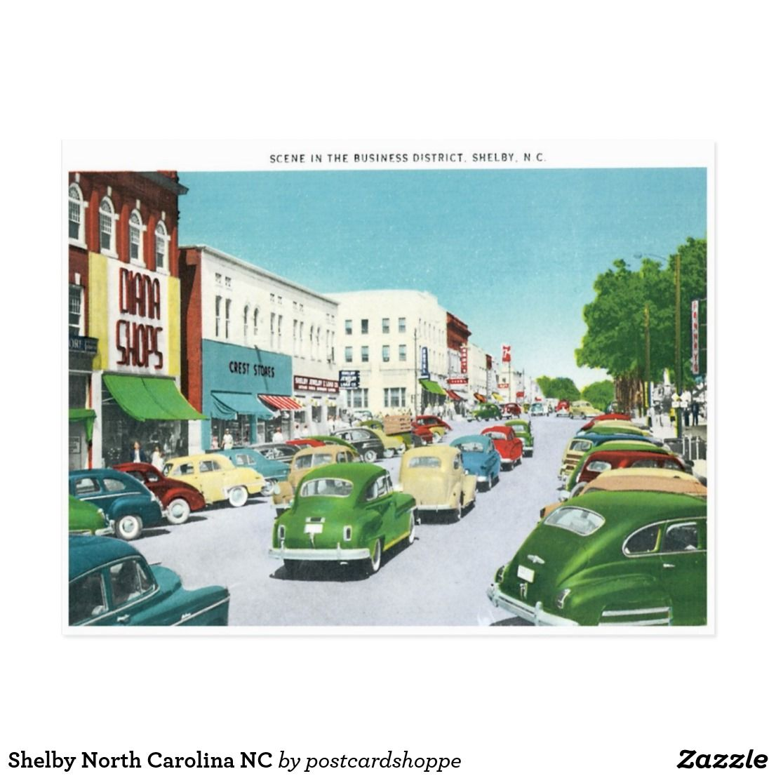 Shelby North Carolina NC Postcard