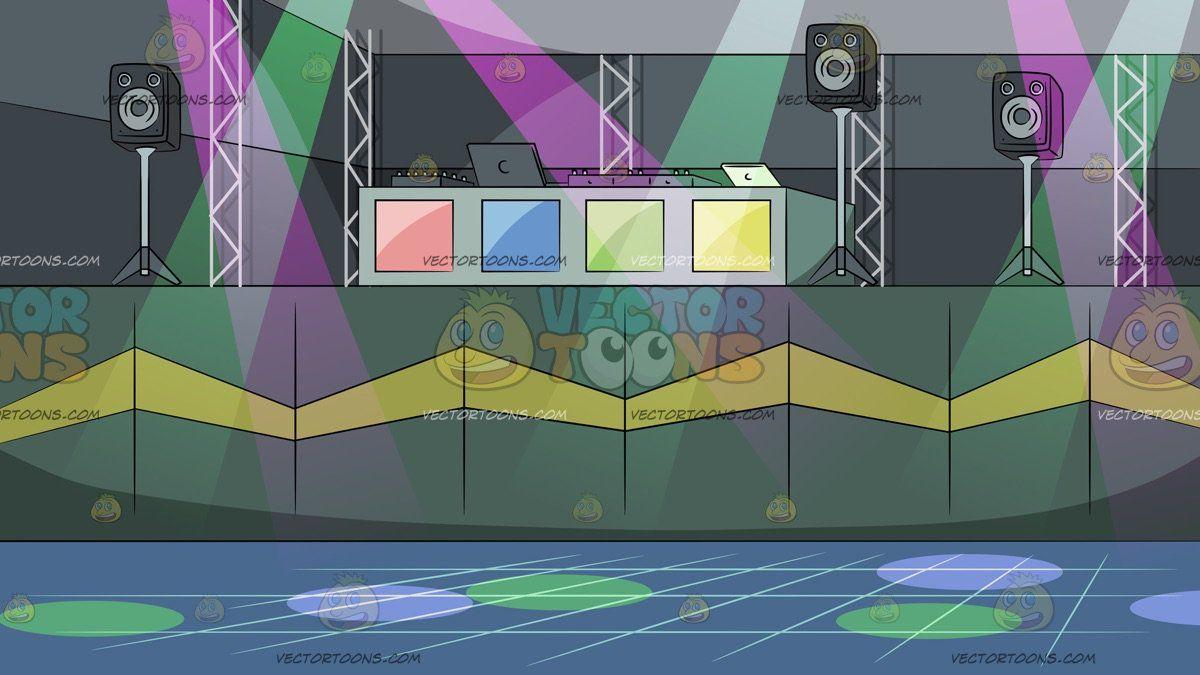 Dj Booth At A Background Dj booth, Night club, Dj