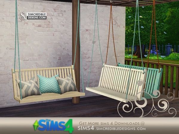 Simcredible S Breezy Swing Loveseat Static Sims 4