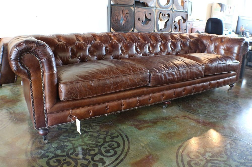 118 L Sofa Brown Cigar Vintage Italian Soft Leather Classic Chesterfield Tufted Vintage Leather Sofa Brown Leather Sofa Vintage Sofa
