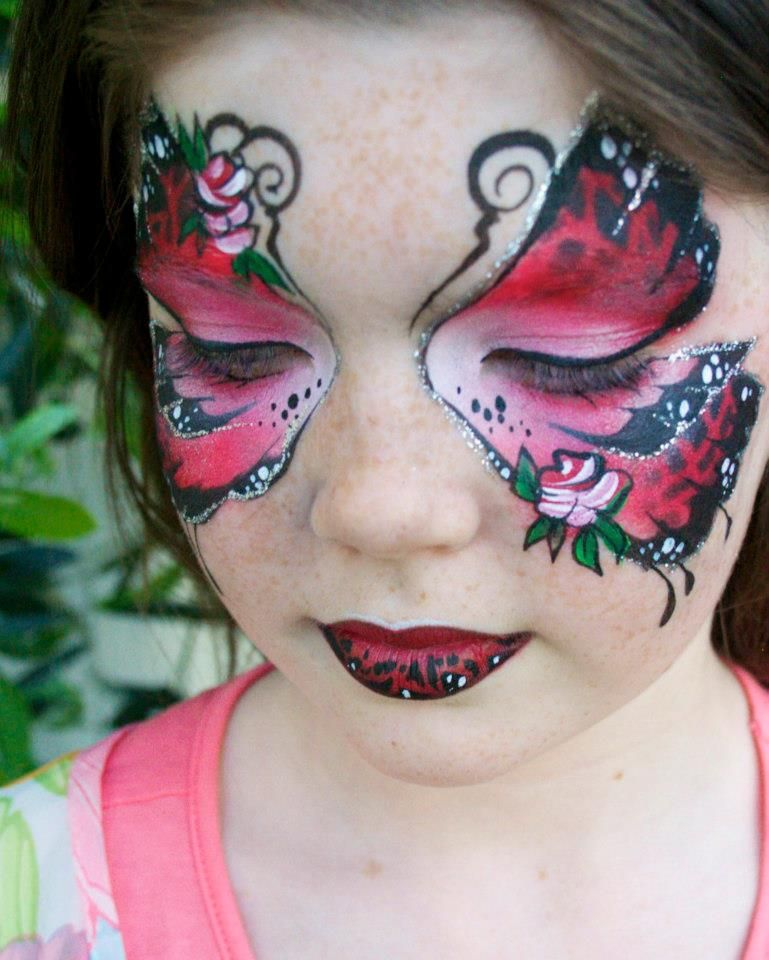 e0dd96b27 butterfly face painting Butterfly Face Paint, Airbrush Tattoo, Face And  Body, Painted Faces