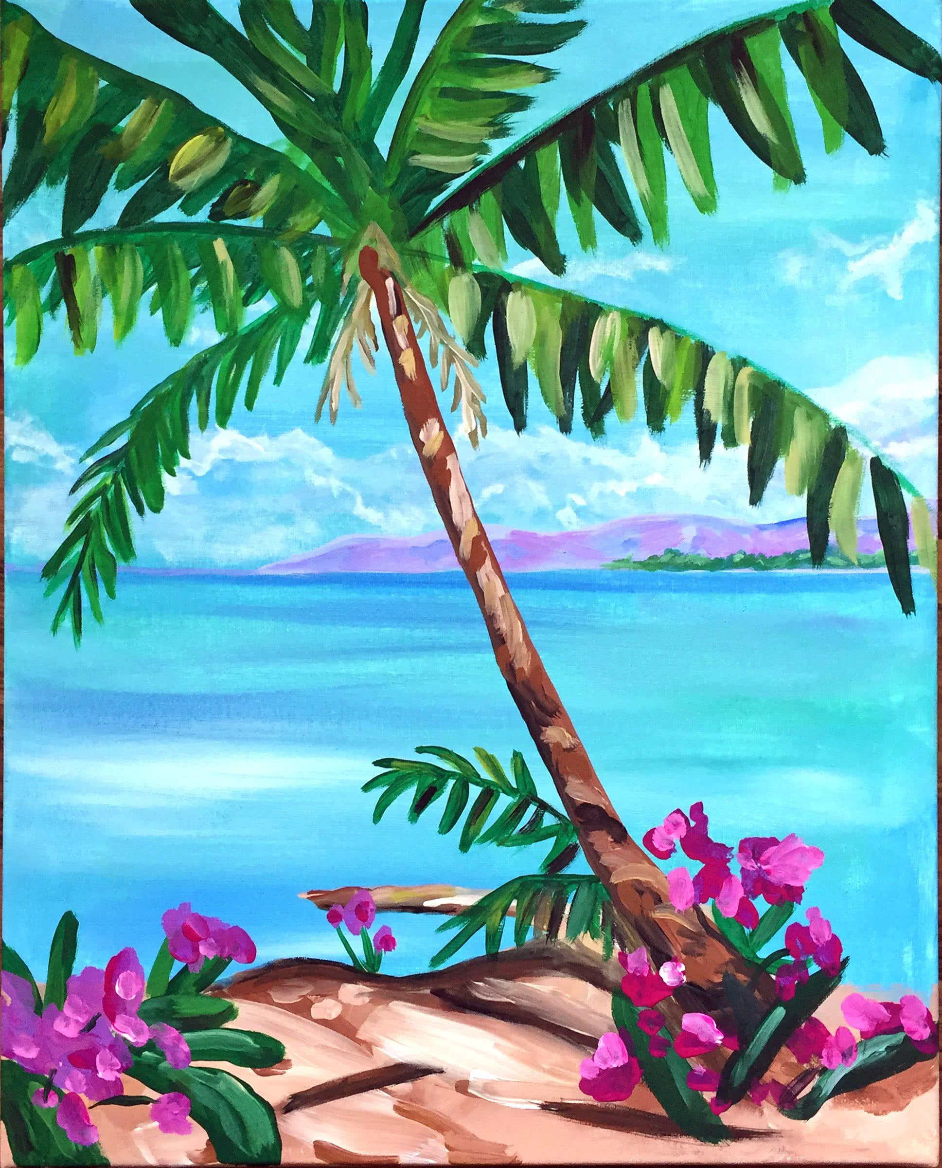 Artmasters Karibik Flair Acryl Leinwand Meerblick