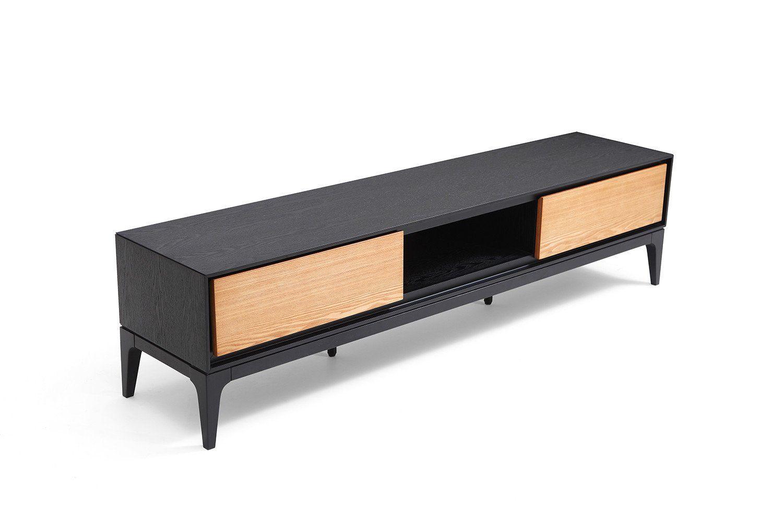 meuble tv design bois noir davos 2jpg