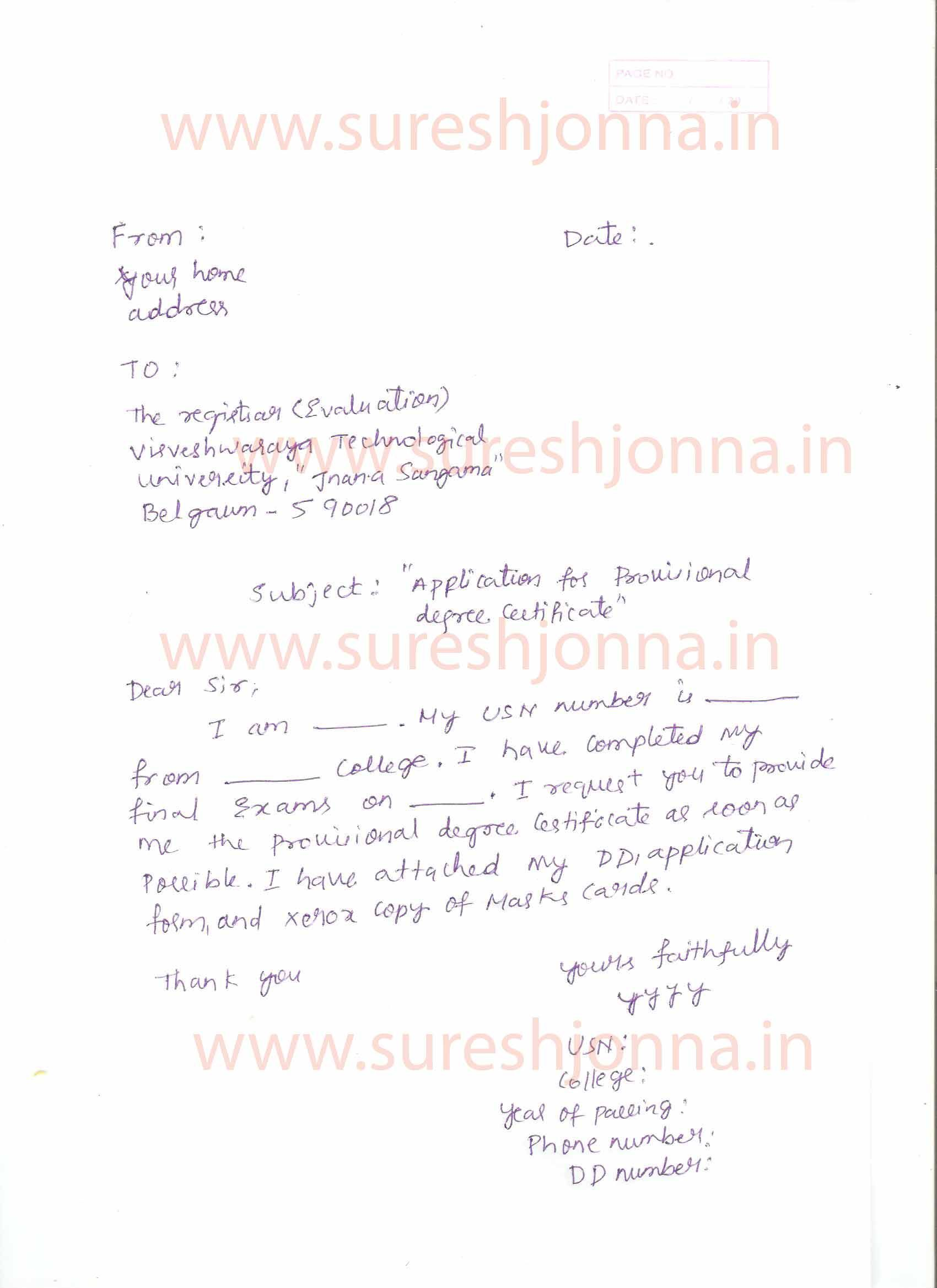 application letter for collection of certificate