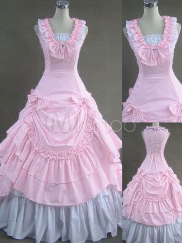 Milanoo / Contrast Color Victorian Long Lolita Dress With Ruffles #dressesfromthesouthernbelleera