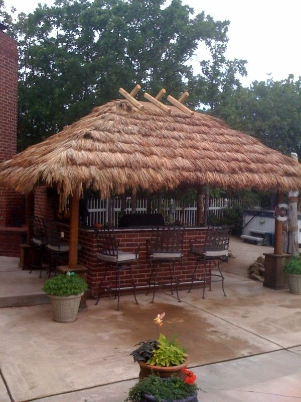 Thatching for DIY build your own Tiki Huts and Tiki Bars Pool area