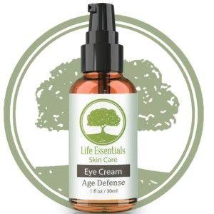 Life Essentials Vegan Eye Cream For Dark Circles Anti Aging And